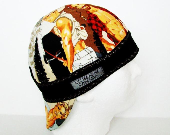 "22 1/4"" Pin up Boys welders cap Size 7 1/8 hard hat liner beanie skull cap construction tradesman gas fitter biker"