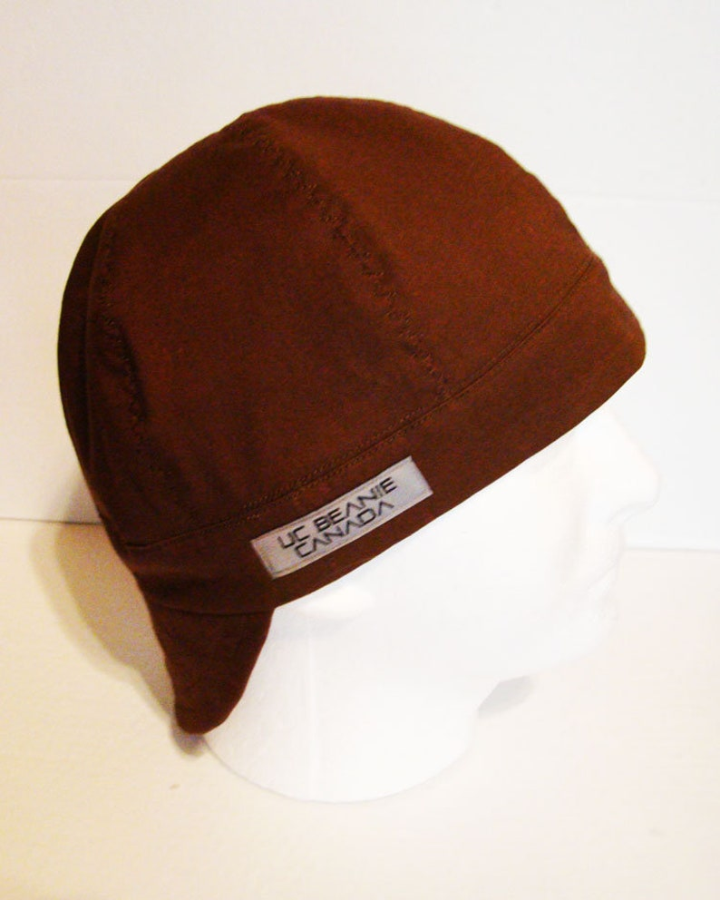 97393c0a1b018 Brown welders cap hard hat liner beanie skull cap construction