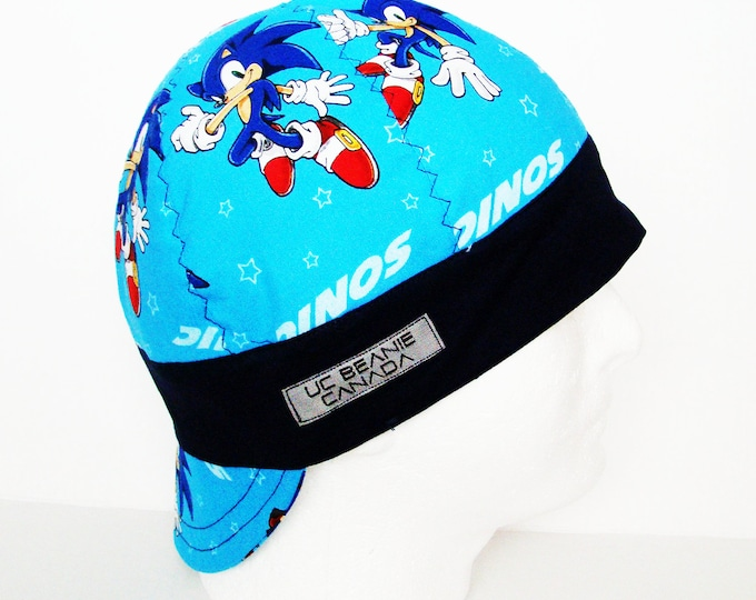 Sonic hedgehog welders cap hard hat liner beanie skull cap construction tradesman gas fitter biker