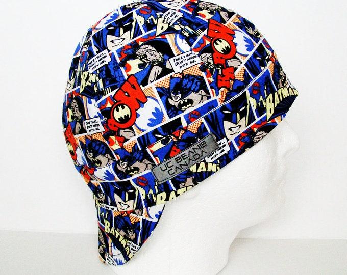 Batman welders cap hard hat liner beanie skull cap construction tradesman gas fitter biker