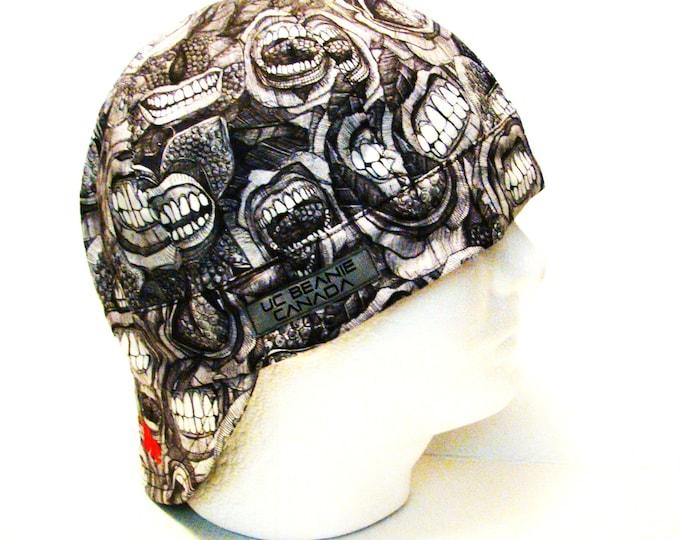 "24 1/2"" Bite Me welders cap size 7 3/4 hard hat liner beanie skull cap construction tradesman gas fitter biker"