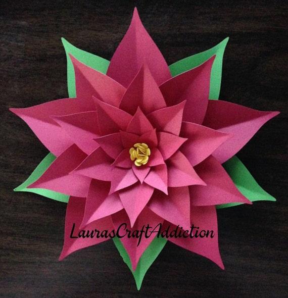Poinsettia svg paper flower svg pdf dxf cut files etsy image 0 mightylinksfo