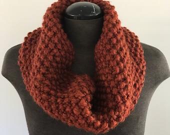 Seed Stitch Knit Cowl