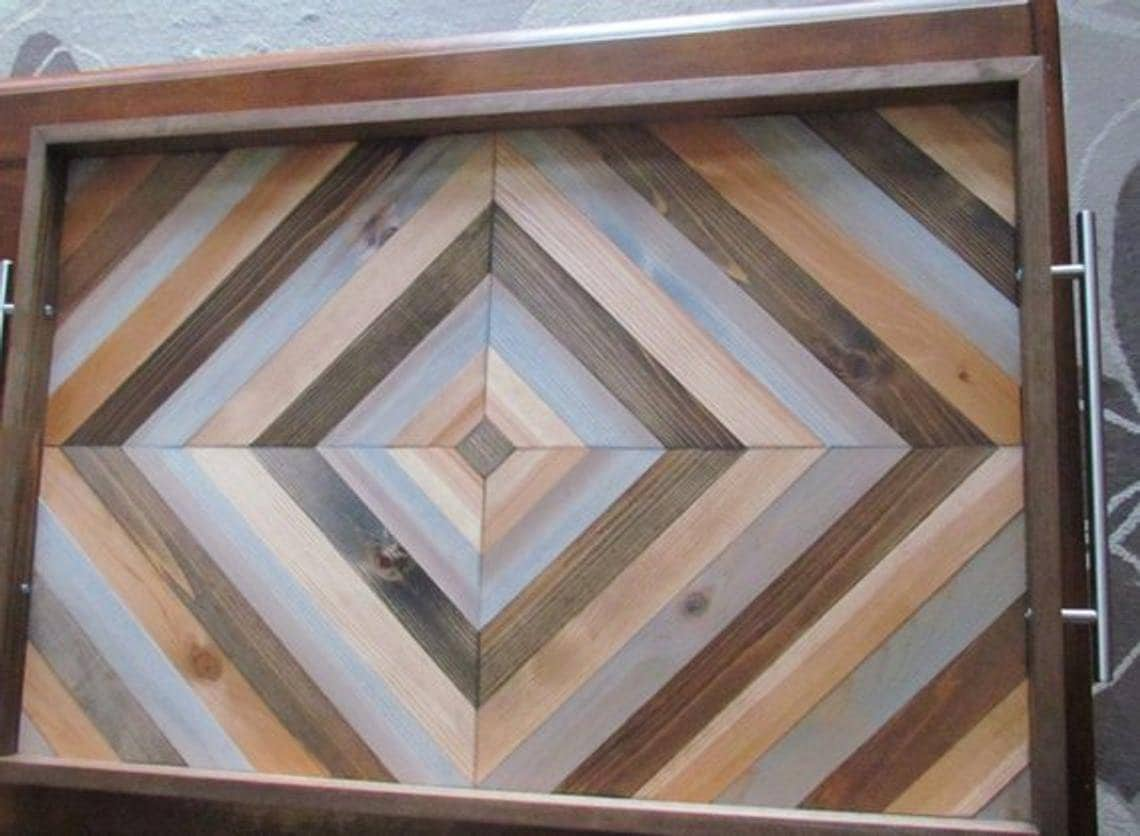 Large Ottoman Tray 30 Wooden Serving Tray Square Etsy