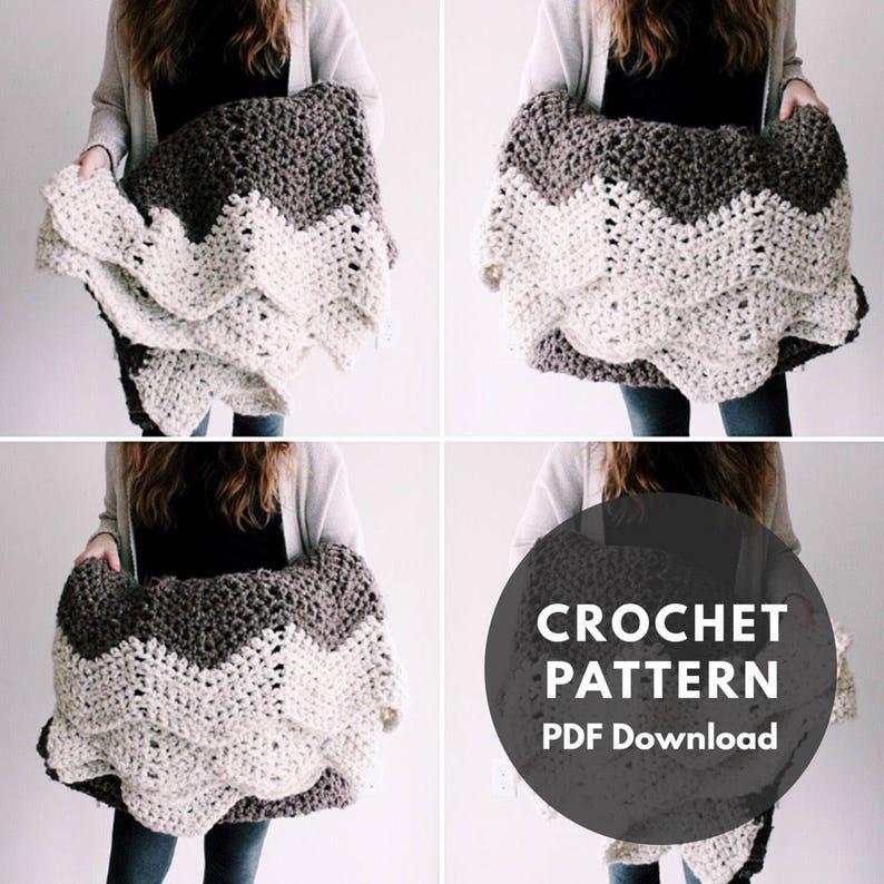 Mountain Top Throw Pattern/blanket/throw/crochet pattern image 0