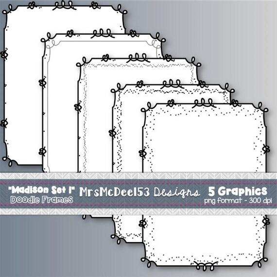 Scrappy Bordure Clipart Cadres Vector Graphics