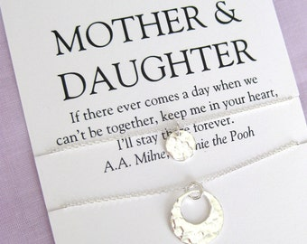 Mom Gifts, Mother Daughter Necklace. 60th Birthday Gift for Mom, mother daughter Jewelry, Birthday Gift for Women,  Mom Birthday Gift