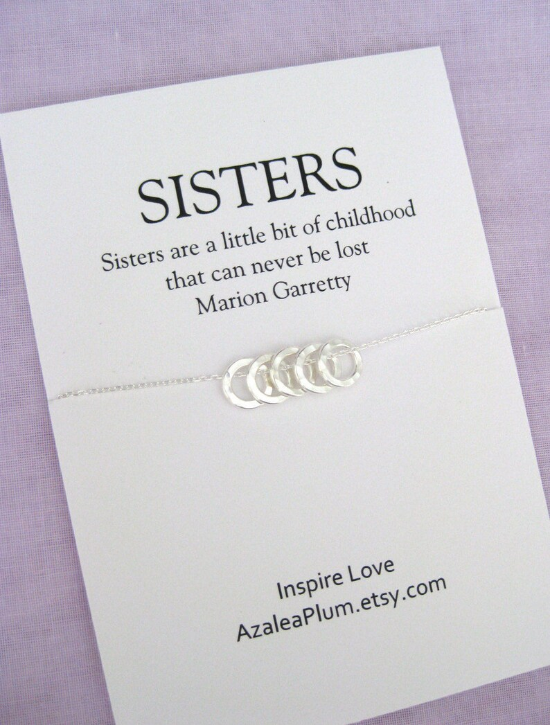 50th Birthday Gift For Sister Solid Sterling Silver Necklace