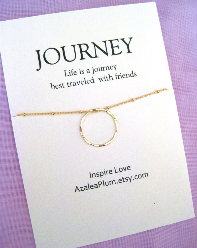 40th Birthday Gifts For Women Necklace Present Jewelry Gift Her Gold Circle Friend