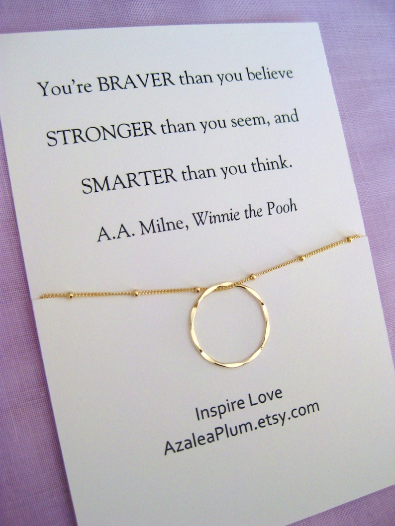 30th Birthday For Her Gift Delicate Gold Necklace Sister Best Friend Inspirational