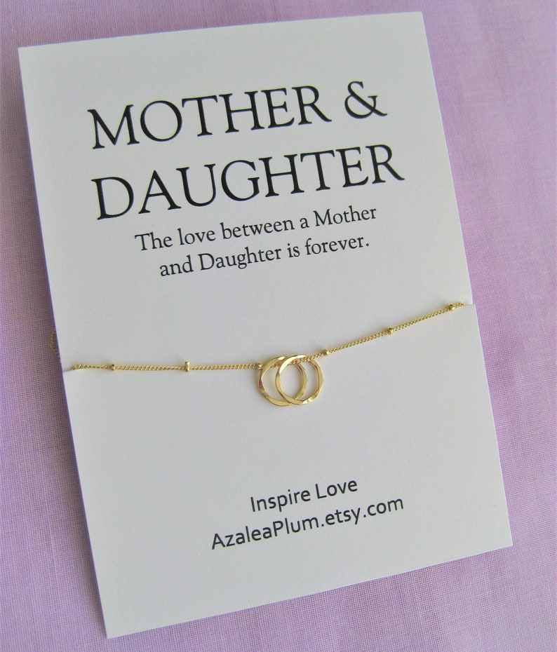 Mom Gift Necklace Birthday Mother Daughter