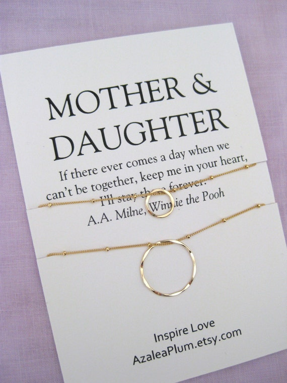 Mom Necklace MOTHER Daughter Birthday Gift