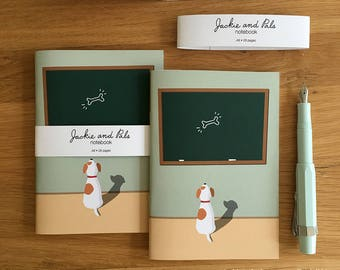 Dog Notebook  - A6 Notebook, Jack Russell Terrier Notebook, A6 Journal, Pocket Notebook, Pocket Journal, Stocking Fillers, Gift Under 10