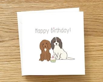 Dog Greeting Card - Cavalier King Charles Spaniel Birthday Card, Dog Birthday Card, Cavalier Birthday Card, Spaniel dog Birthday Card