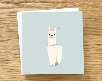 Llama Greeting Card - Cute llama Alpaca card, Alpaca Love Card, Llama card, Card for Llama lovers, Llama Love Card, Alpaca card