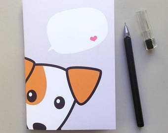 Dog Notebook  - Write your own title notebook, A6 Notebook, Jack Russell Terrier Notebook, Pocket Notebook, Pocket Journal,  Gift Under 10