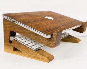 Walnut Wood Laptop Stand/Riser-Macbook Riser