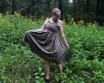 Naturally Dyed Vintage Sheet Cottagecore Dress