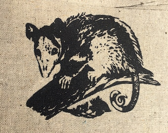 Possum Screen printed Patch (Opossum)