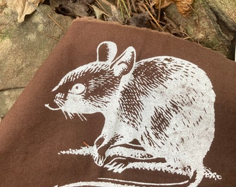White Ink Punk Mouse Back Patch