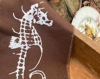 Punk/Rustic Seahorse Large Sleeve or Back Patch