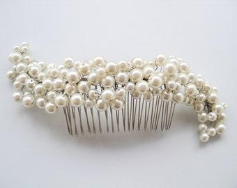 Bridal Pearl Hair Comb - Wedding Hair Comb - Pearl Hair Comb - Bridal Head Piece