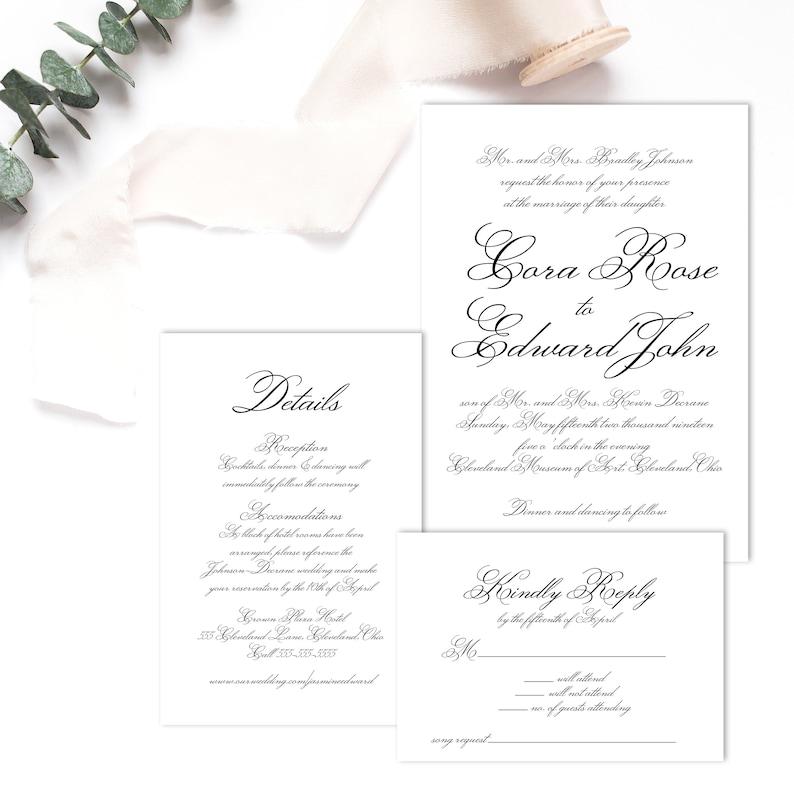 Instant Download Thank You Card \u2022 Wedding Bridal Shower \u2022 Gray Flowers \u2022 Watercolor Floral \u2022 Flowers \u2022 Black /& White \u2022 Birthday Thank You