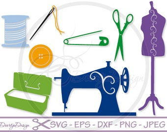SVG files Sewing Hobby, Cutting files, Svg Files, SVG for Silhouette, Svg files Cricut, Scan N Cut, Vector files, eps files, Sewing Machine