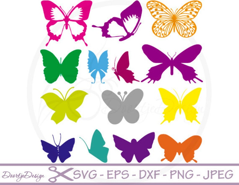 SVG cut files Butterflies Silhouette Clipart Clipart image 0