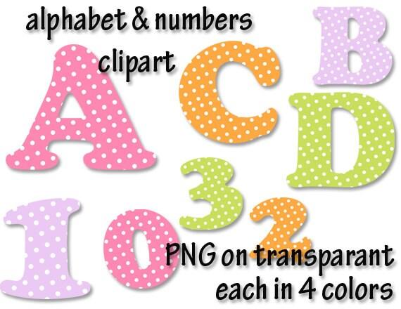 Alphabet clipart polka dots fonts alphabet letters clipart   Etsy
