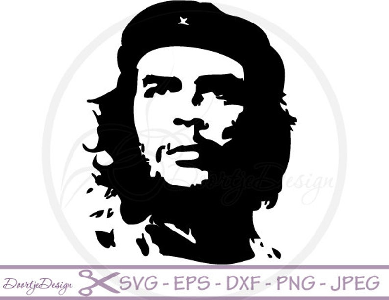 1afd41086b3 Che Guevara silhoutte SVG files dxf files Che Guevara eps