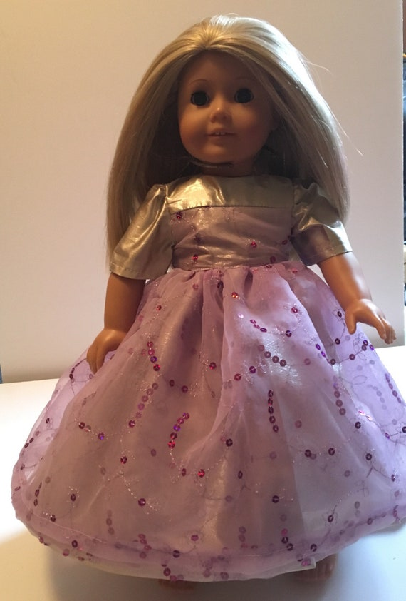 "LAVENDER Ruffled Skirt Doll Clothes Made For 18/"" American Girl Debs"