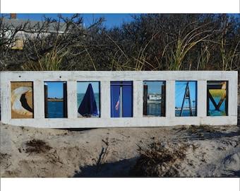 CHATHAM (Barn Wood White Frame) Coastal Alphabet Letter Photography