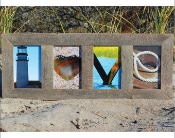 LOVE (Barn Wood Natural Frame) Coastal Alphabet Letter Photography