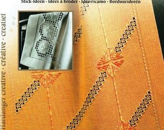 Stick modèle feuille 8 hardangerstickerei