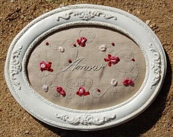 Love - (R808) Silk Ribbon embroidery kit
