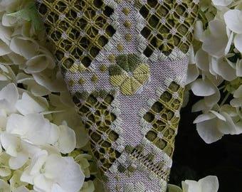 Aziliz Creation: Châtelaine d'Hortense - hardanger embroidery pattern (H0908) by Cécile Pozzo di Borgo