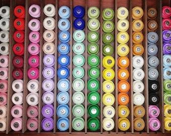 DMC: Lace yarn 80 - 50 plain colors