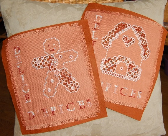 Duo of spices - hardanger embroidery pattern - Aziliz Creation