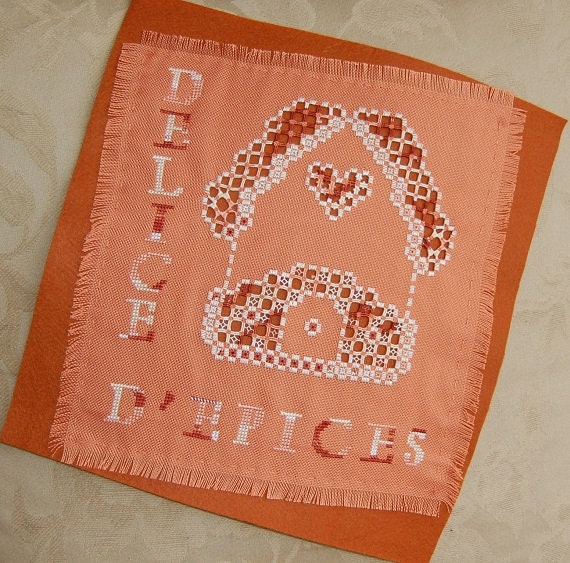 House of spices - hardanger embroidery kit - Aziliz Creation