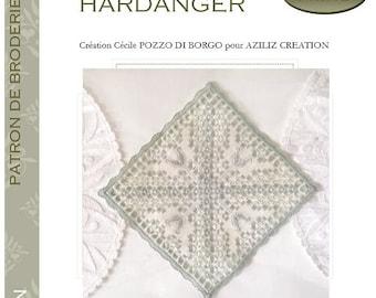 Ancient square #1 - hardanger embroidery pattern - design Cécile Pozzo di Borgo Aziliz Creation