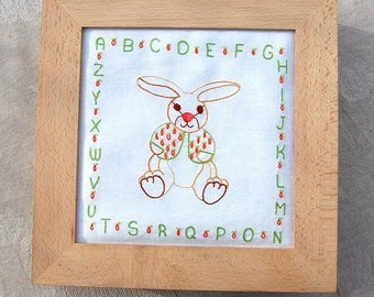 Spring rabbit (B901) - ready to embroider and sew embroidery traditional semi-kit