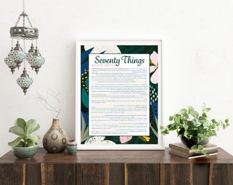 Things We Love About You - Tropical Navy