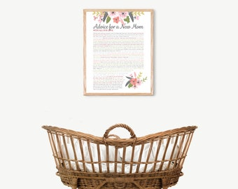 Personalized Baby Shower Gift, Advice for New Mom, Baby Gift, Nursery Decor