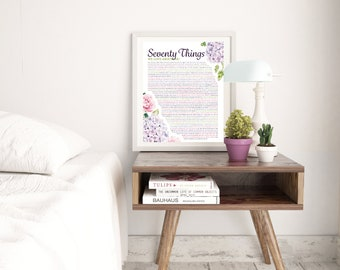 70 Things We Love About You - Hydrangea Print