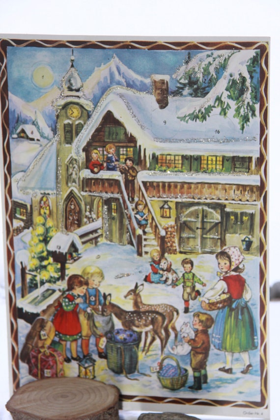 Advent Calendar wirh pictures / made in Germany/ pic#4 / magical / prepare for the holidays