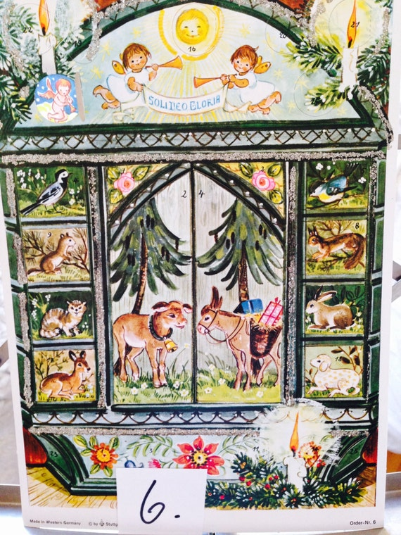 Advent Calendar/ picture advent calendar/ made in Germany/ vintage christmas/ prepare for christmas /magical christmas pic#6