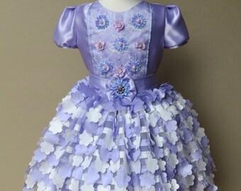 SALE! SIZE 3T, Purple Tutu Dress, Girls Lace Dress, Toddler Dress, Girls Ruffle Dress, Girls 3T Dress, Girls Purple Dress, Pupolino.