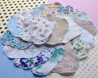GRAB BAG 3-7-12, 100% Cotton Reusable Cloth Pantyliners, Panty Liners, Variety Set, 3 Sizes, Daily Freshness