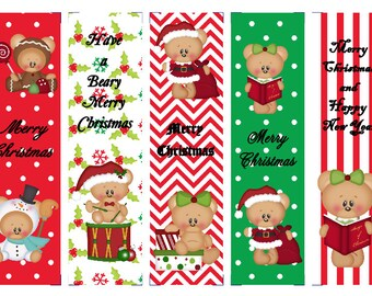 Dressed for Christmas Bears Book Marks